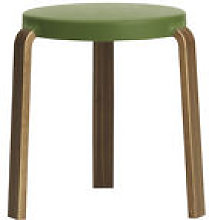 Tabouret empilable Tap Stool / Noyer & mousse -