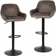 ® Tabouret en flanelle chaise de bar haut deux