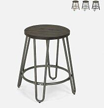Tabouret en métal design industriel pour bars