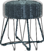 Tabouret gris anthracite et métal noir