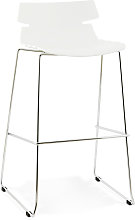 Tabouret haut 'MARY' blanc empilable