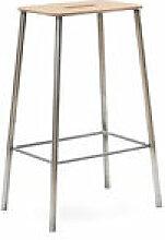 Tabouret haut Adam Cuir / H 65 cm - Indoor - Frama