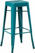 Tabouret haut en acier LIX Acier - Bleu Turquoise