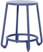 Tabouret Huggy / H 45 cm - Aluminium - Maiori bleu