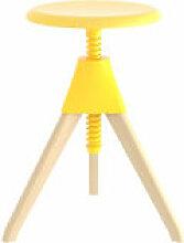 Tabouret Jerry / H 50 à 66 cm - Bois & plastique