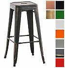 Tabouret JOSHUA chaise fauteuil métal industriel