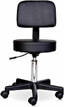 Tabouret massage a roulettes reglable en hauteur