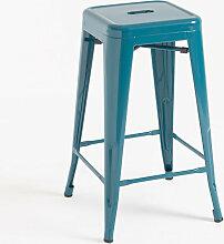Tabouret Mel Bas - Bleu-vert