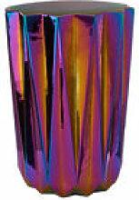 Tabouret Oily Folds / Céramique iridescente -