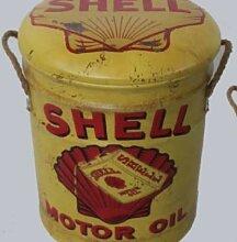 Tabouret ou poubelle de rangement en métal