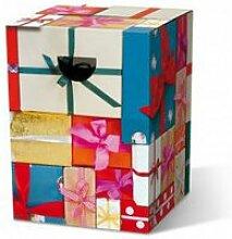 Tabouret pliable en carton cadeau