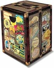 Tabouret pliable en carton déco Tour du monde