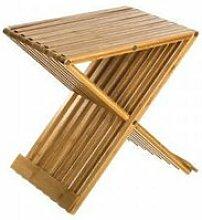 Tabouret pliant en bambou - 40 x 32 x 45 cm