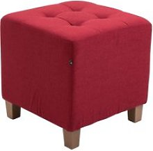 Tabouret pouf pharao , rouge
