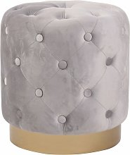 Tabouret pouf repose-pieds design chesterfield