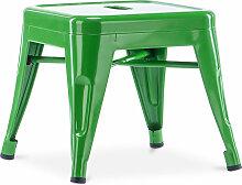 Tabouret pour enfant de style Tolix - Métal Vert