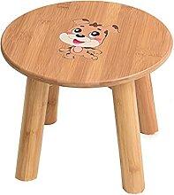 Tabouret rectangulaire pour enfant en bois massif