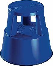 Tabouret roulant plastique bleu Hauteur avec/sans