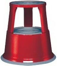 Tabouret roulant tôle d'acier rouge hauteur