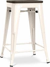 Tabouret Tolix 60cm en bois Pauchard Style -