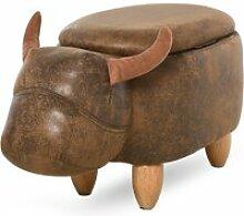 Tabouret vache - pouf vachette - pouf taureau