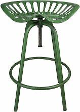 Tabouret vert design siège de tracteur Esschert
