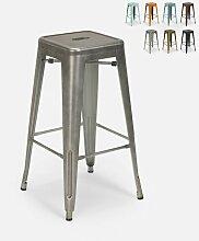Tabouret vintage en métal design industriel pour