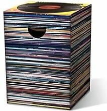 Tabouret Vinyles en carton Music Express -