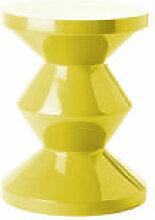 Tabouret Zig Zag / Plastique - Pols Potten jaune
