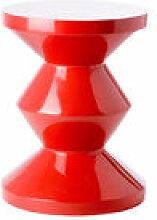 Tabouret Zig Zag / Plastique - Pols Potten rouge