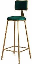Tabourets de bar en velours, chaises de bar rondes