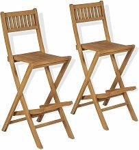 Tabourets pliables de bar d'extérieur chaises