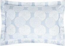 Taie d'oreiller Dahlia en coton/polyester bleu
