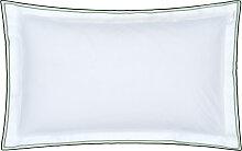 Taie d'oreiller en coton blanc 50x75