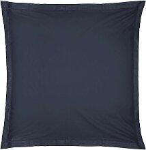 Taie d'oreiller en coton, bleu encre 63x63 cm