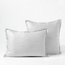 Taie d'oreiller, traversin Blanc 65x65 Bâton