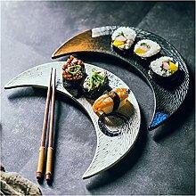 TAIYUAN Assiette Créative Céramique Big Moon