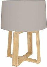 Tak Design D0181CE Lampe de Table, Wood, Taupe,