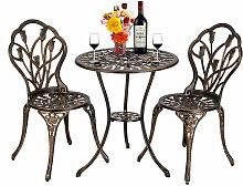 Talkeach - Ensemble de table et chaises de bistro