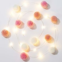 Talking Tables We Heart Pink Pom Lights 2M 20Leds