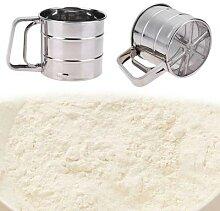 Tamis à farine de cuisine, rond, pâtisserie,