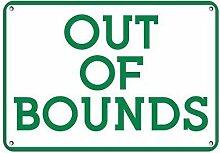 TammieLove Panneau métallique Out of Bounds