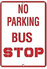 TammieLove Plaque métallique Interdit Parking Bus