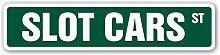 TammieLove Slot Cars Panneau de Rue en Aluminium