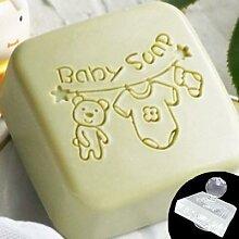 Tampon de savon en tissu pour bébé, motif de