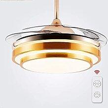 Tankkweq Ventilateur de plafond avec lumière et