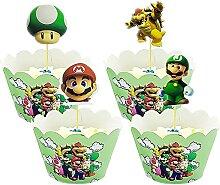 TaoQi 48 Pcs Emballages De Petits Gâteaux Muffins