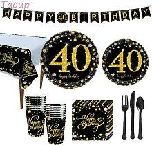 Taoup 40th Fête D'anniversaire Vaisselle