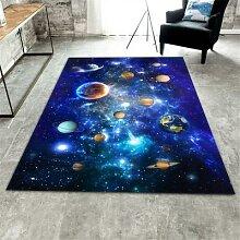 Tapis 3D lavable avec étoiles et ciel, espace