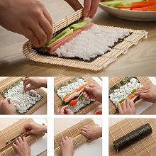 Tapis à rouler en bambou, rideau de Sushi, Kits